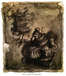 Baba Yaga - steampunked by Tsabo6