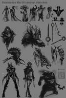 Dominance War IV sketches by Tsabo6