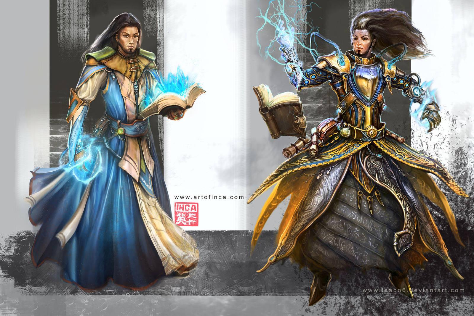 wizard concepts by Tsabo6