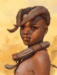 Himba tribe kid study by Tsabo6
