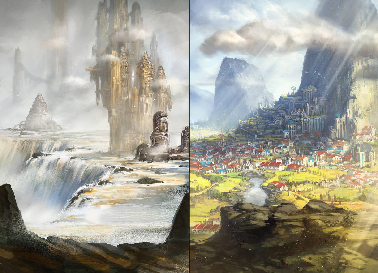 2 landscapes by Tsabo6