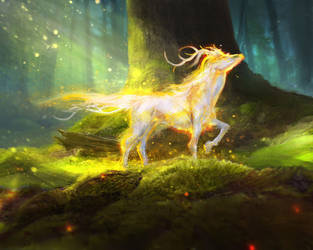 Gold-nature spirit by Tsabo6