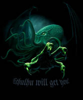 Cthulhu T-Shirt version by Acrylicdreams
