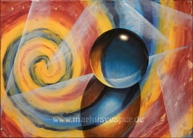 Abstract with crystal ball 1 by Acrylicdreams