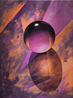 Abstract with crystal ball 2 by Acrylicdreams