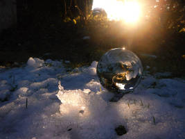 Crystal ball in the snow by Acrylicdreams