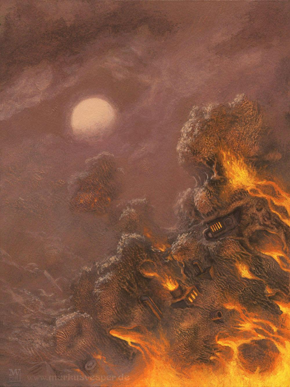 Firemoon by Acrylicdreams
