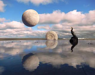 Surreal moon by Acrylicdreams