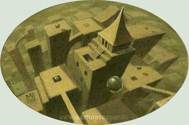 city of spheres by Acrylicdreams
