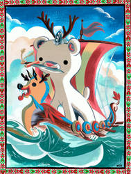 Viking Polar Bear by Pocketowl