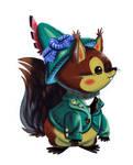 German boy squirrel by Pocketowl