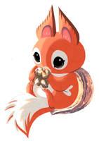 Baby Walnut by Pocketowl