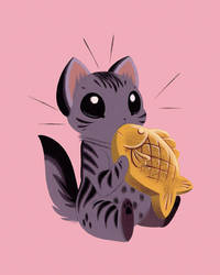 Taiyaki Kitten by Pocketowl