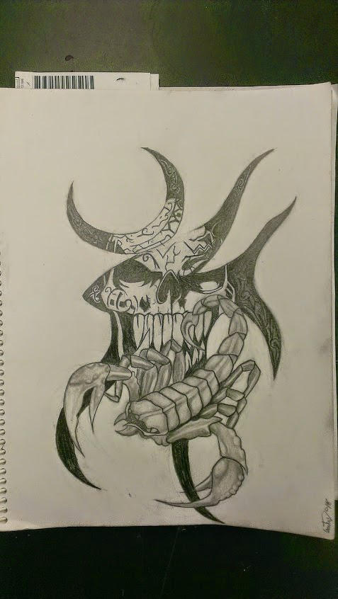Skull And Scorpion Tattoo Sketch By Remona8star On Deviantart