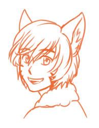 Icarus Bust Sketch by ikarus-exe