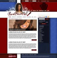 Roundbrushhair webdesign by naranch