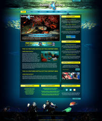 Bubble n dive webdesign by naranch