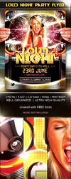 Loud Night party flyer template by naranch