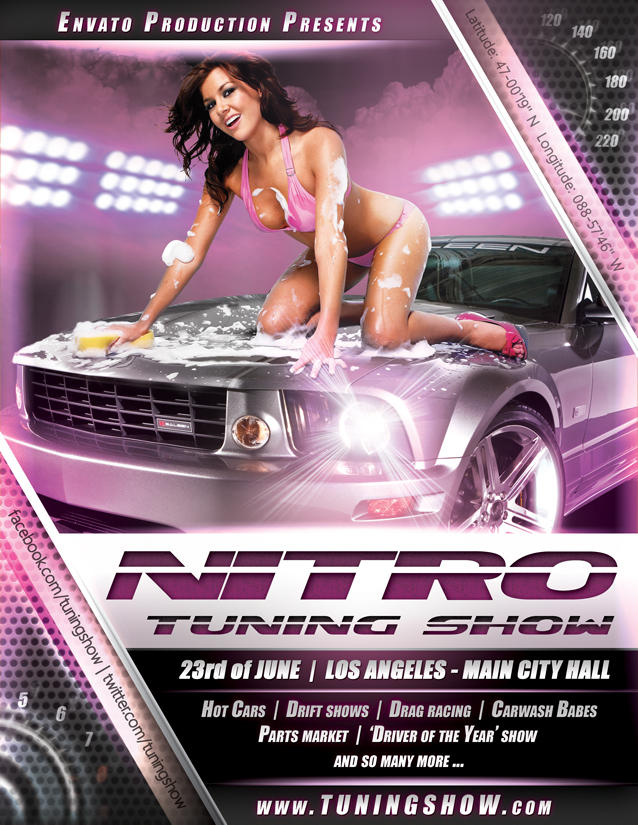 Nitro Tuning Show flyer version 1 PSD by naranch