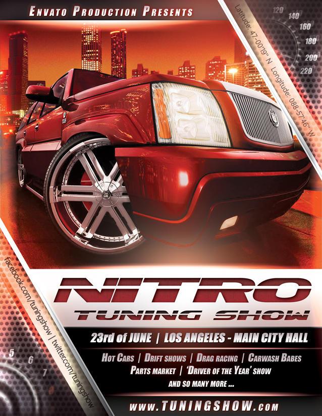 Nitro Tuning Show flyer version 3 PSD by naranch
