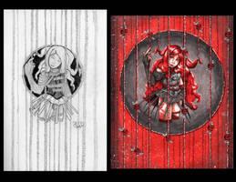 Caged Rose Comparison by Detonya-KAN