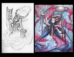 Goddess Galaxy Comparison by Detonya-KAN