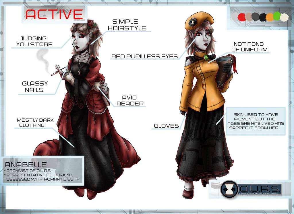 Anabelle Character Sheet by Detonya-KAN