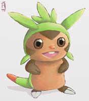 Pokemon - Chespin (+Video Process) by alpin-j
