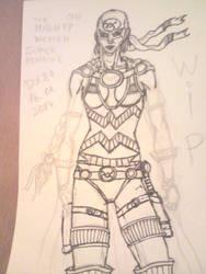 WIP Mighty Woman OC by dragonx81