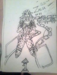 Zalia Sketch ink_Character contest #3 by dragonx81