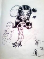chibi-Little Vamp girl sketch by dragonx81