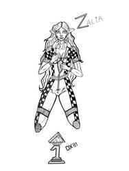 Zalia OC lineart_Character contest by dragonx81