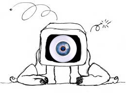 My eyes seek reality by Deathanee
