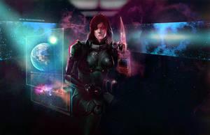 Commander Shepard by aelice