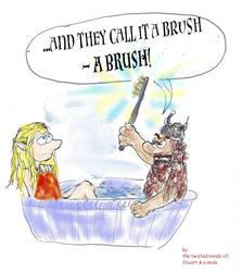 Dwarf bathing Lesson by a-mole