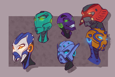 random mask practice by Just-Rube