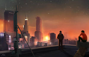 02/30 - City Skyline by MichelleChandra