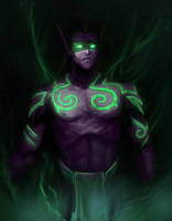 Illidan - The Gift by Morttimus
