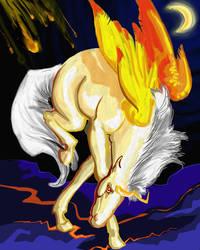 Unipeg of Doom colored by UnicornSpirit