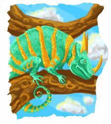 Reptiles: slice 1 Chameleon by UnicornSpirit