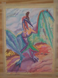 Pteranadon Watercolors by UnicornSpirit