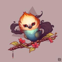 Smoke-tailed Phoenix Warbler by TLCook