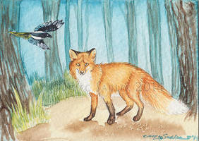 The Tiniest Fox by LucidKitsune
