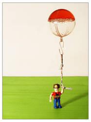 flying water balloon by raumzeit
