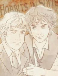 Sam and Frodo by ladyarrowsmith