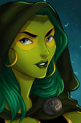 Gamora by ladyarrowsmith