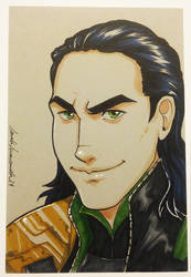 DailySketch Loki by ladyarrowsmith