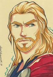 DailySketch Thor by ladyarrowsmith