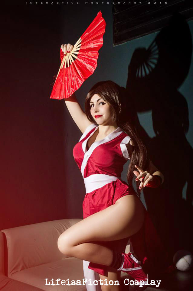 Cosplay deviants mai shiranui theme