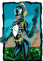 Venom Girl Color by JardelCruz